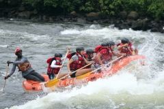 Februar 2020: Rafting am White Nile in Jinja / Uganda