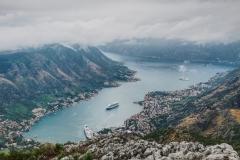 Lovcen, Blick auf die Bucht von Kotor