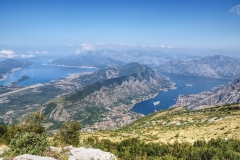 Lovcen, Blick auf die komplette Bucht von Kotor