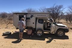Namibia Reifenschaden